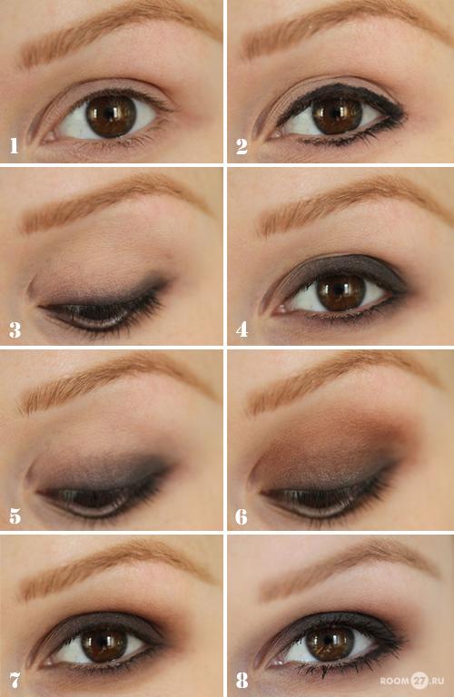 макияж для черных глаз и черных волос дневной