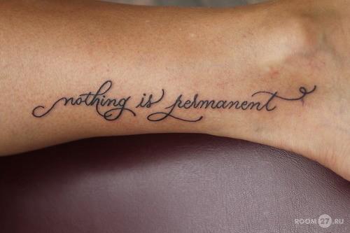 Татуировки на ноге надписи