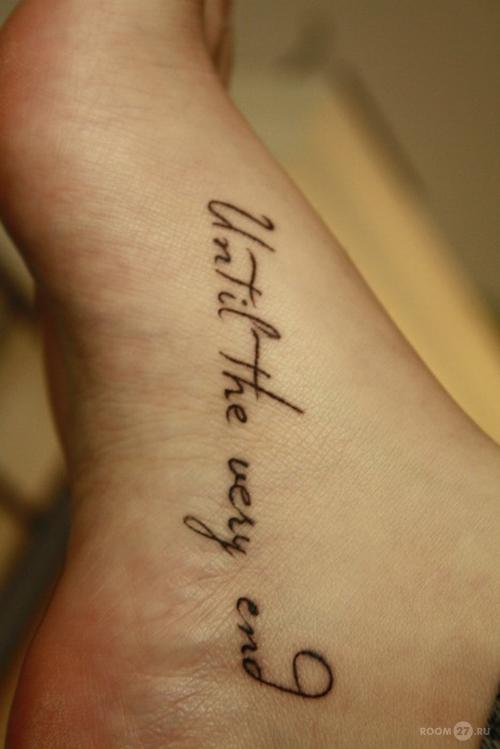 Тату перевод надписи на ноге для девушек с переводом