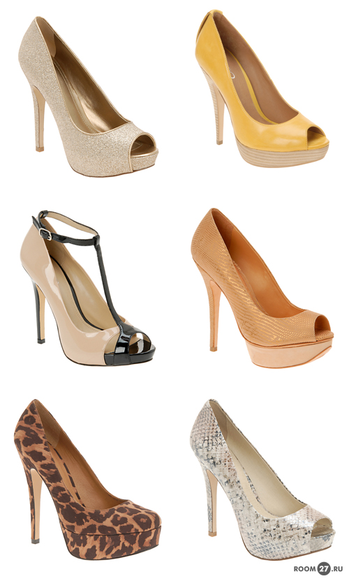 Туфли на каблуке высоком