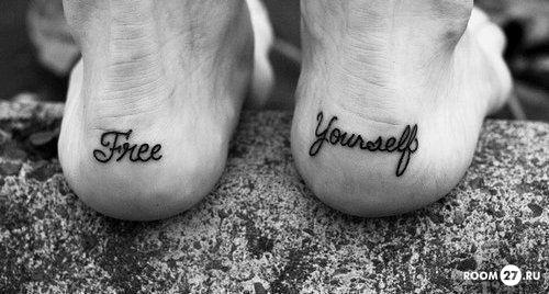 Того татуировки надписи на английском