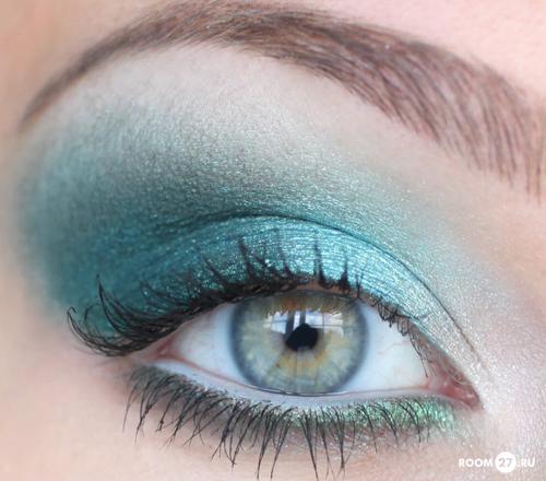 Макияж для светлых глаз голубой