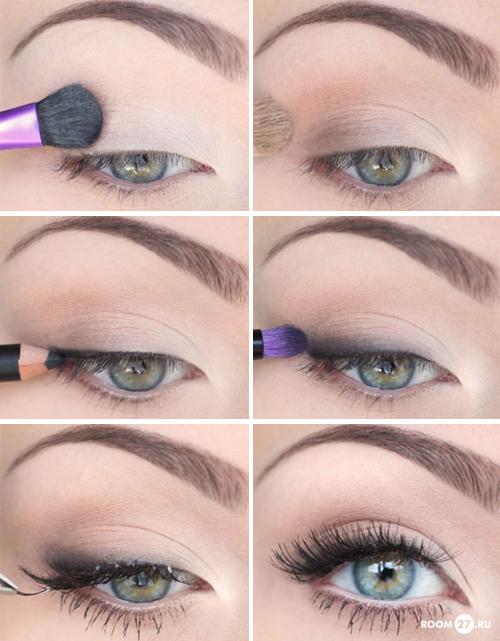 Как сделать красивый легкий макияж в домашних