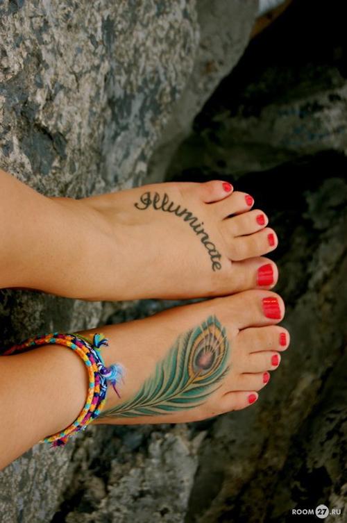 Плюсы выбора татуировок на ноге