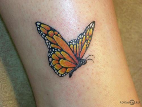 Тату с бабочкой имеет множество