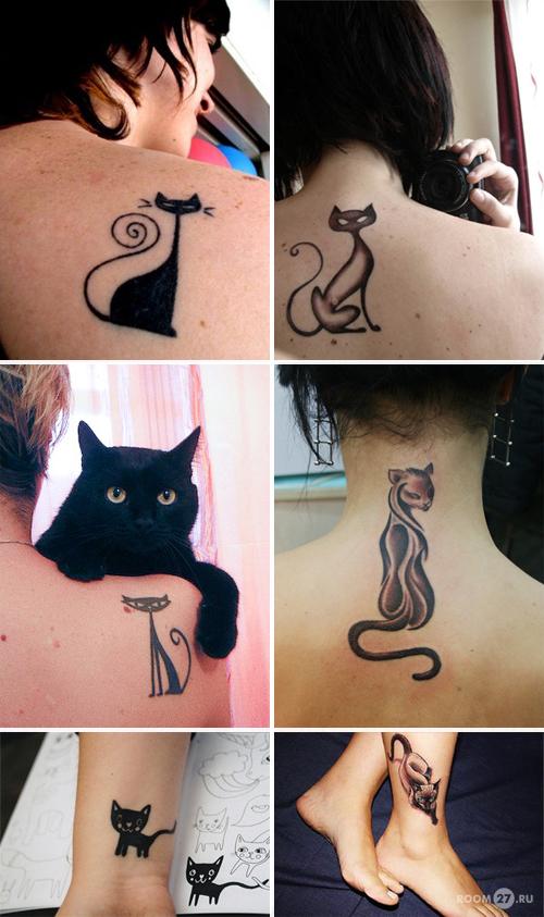 Тату кошка значение и фото татуировок