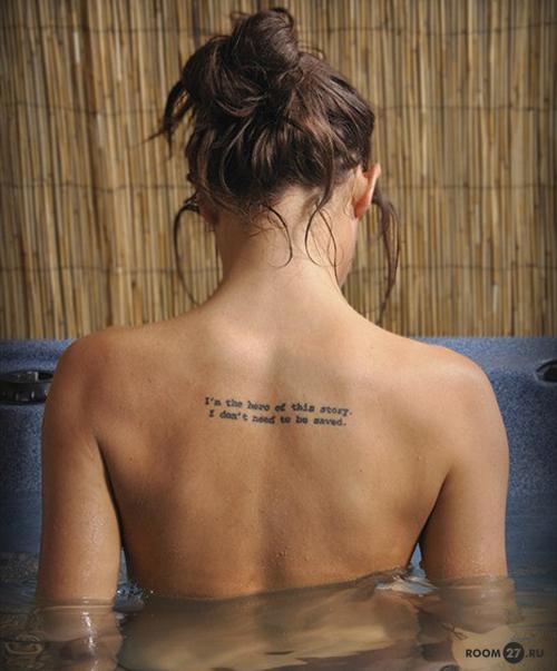 надпись на спине тату фото
