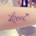 Тату надписи Love