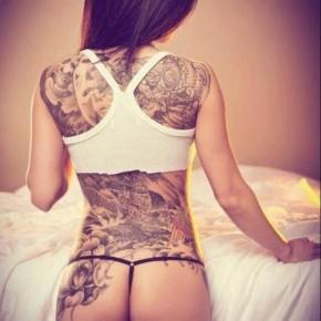 Татуировки для девушек на спине
