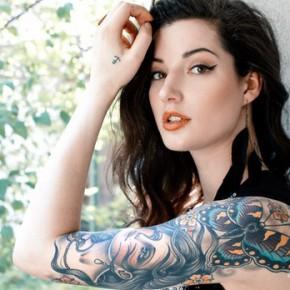 Татуировки для девушек в стиле олд скул