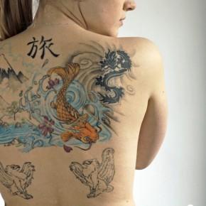 Японские татуировки для девушек