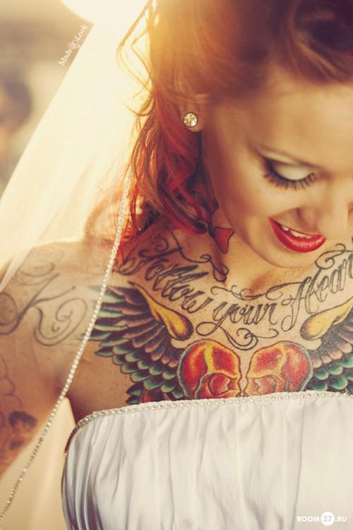 Татуировки для девушек невест сердце
