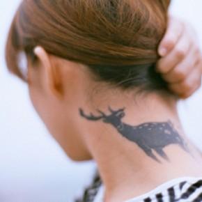 Татуировки для девушек олень