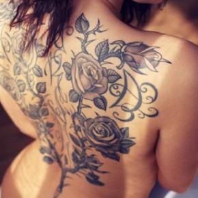 Татуировки для девушек с розами