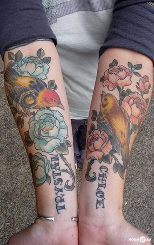 татуировки для девушек надпись на руке фото