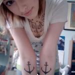Татуировки на руках якоря
