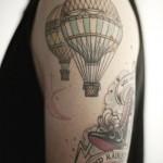 Татуировки на руках воздушные шары